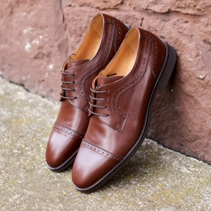 Lord Quarter Brogues - Brązowe - T